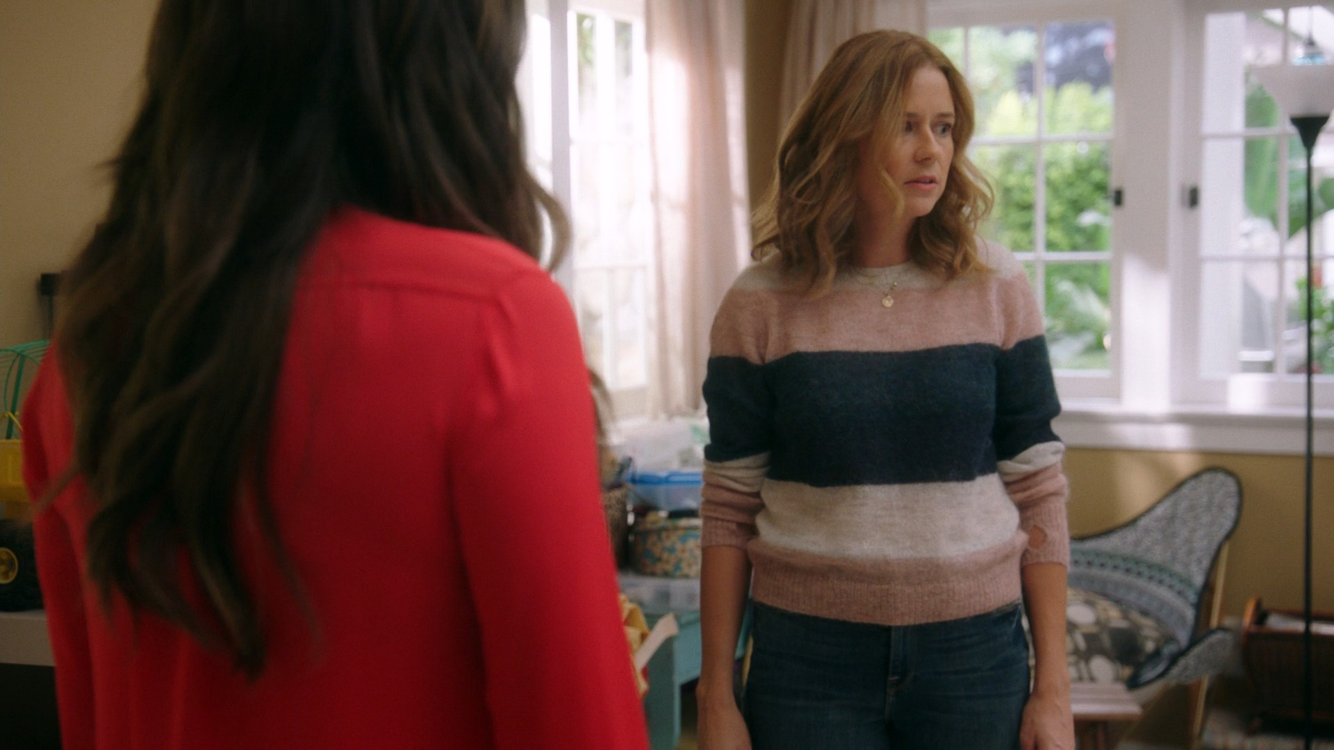 Jenna Fischer, Lindsay Price Blue Jeans- Splitting Up Together S01E02